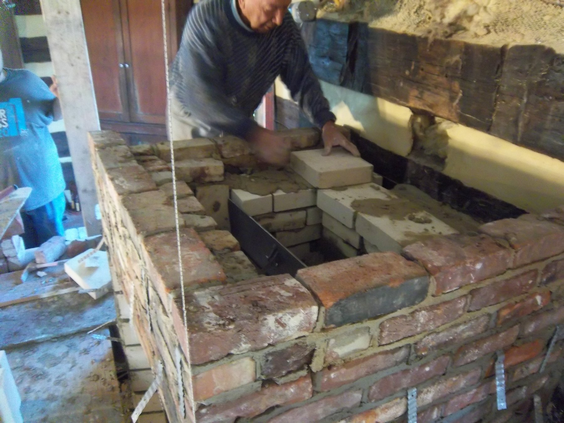 Building A Fireplace Derry Area Historical Society Photos Of Fulton House Restoration